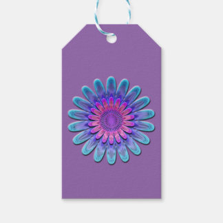 Abstract flower. pack of gift tags