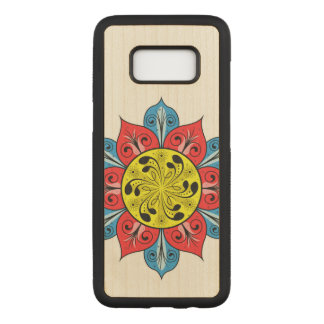 Abstract Flower Pattern Carved Samsung Galaxy S8 Case