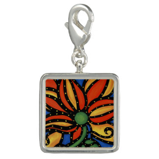 Abstract Flower Photo Charm