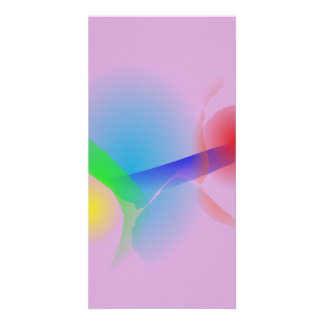 Abstract Flower Photo Card