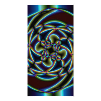 Abstract Flower Photo Card Template