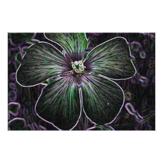 Abstract Flower Photo Print
