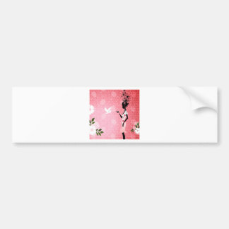 Abstract Flower Pink Love Of Dove Bumper Sticker