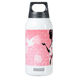 Abstract Flower Pink Love Of Dove SIGG Thermo 0.3L Insulated Bottle