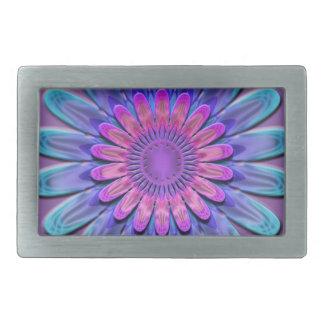 Abstract flower. rectangular belt buckle