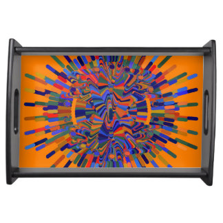 Abstract Flower Serving Tray