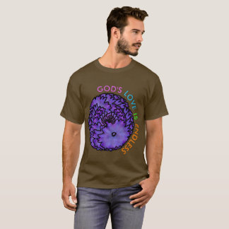 Abstract Flower Spiral: GOD'S LOVE IS ENDLESS T-Shirt