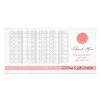 Abstract Flower Thank You Photo Card