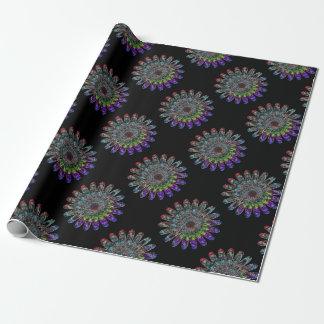 Abstract flower. wrapping paper