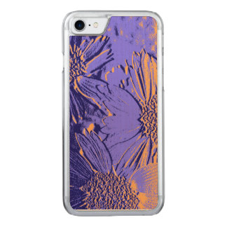 Abstract Flowers 2 Carved iPhone 8/7 Case