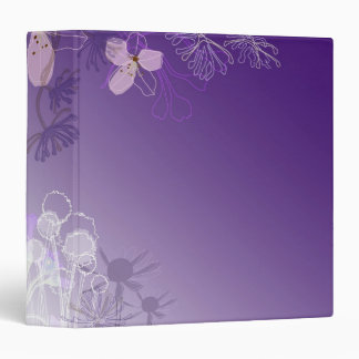 Abstract Flowers 3 Ring Binders