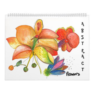 Abstract Flowers and Orchids Calendar