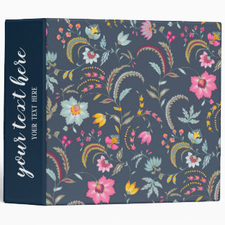 Abstract flowers binder