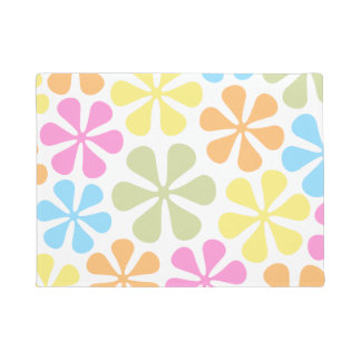 Abstract Flowers Bright Color Mix Doormat