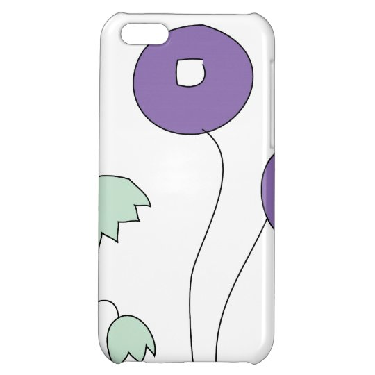 Abstract flowers case iPhone 5C case