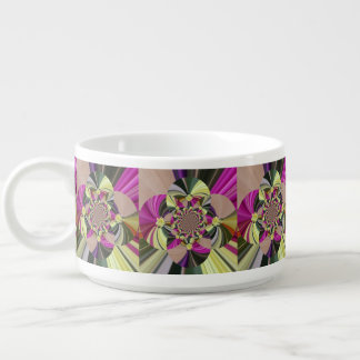 Abstract Flowers Floral Pattern Bowl