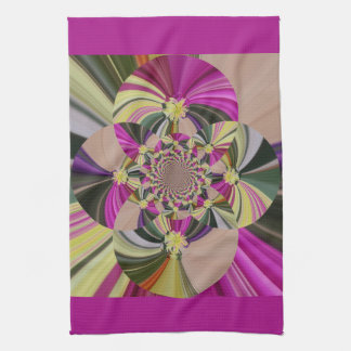 Abstract Flowers Floral Pattern Kitchen Towel