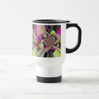 Abstract Flowers Floral Pattern Travel Mug