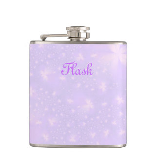 Abstract Flowers in Lilac and Pink Flask