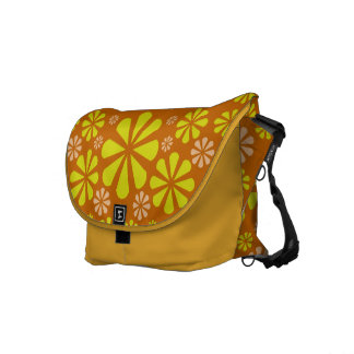 Abstract Flowers messenger bag