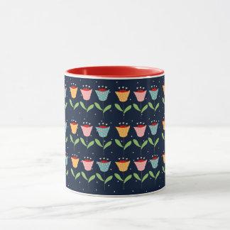 abstract flowers mug