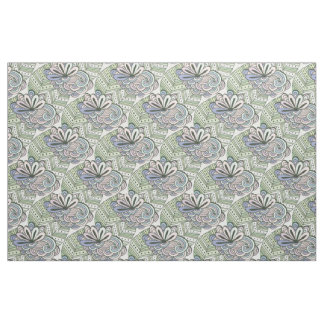 Abstract Flowers Pattern fabric