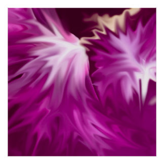 abstract flowers pink print