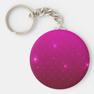 Abstract Flowers Purple Relax Basic Round Button Keychain