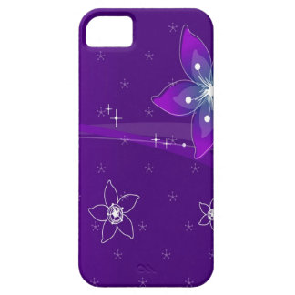 Abstract Flowers Purple Various iPhone 5 Case