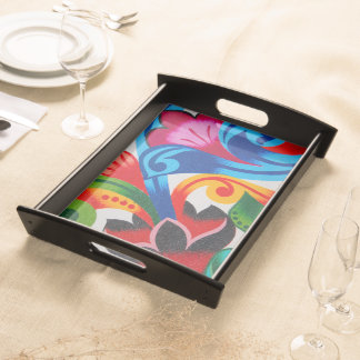 Abstract flowers - Serving tray - Tray