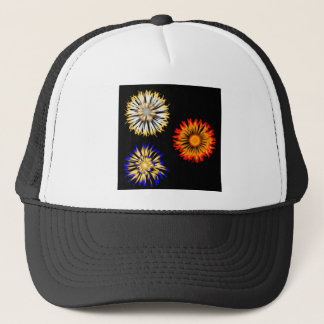 Abstract Flowers Trucker Hat