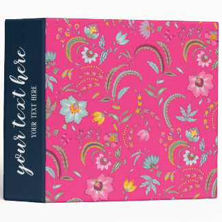 Abstract flowers vinyl binder