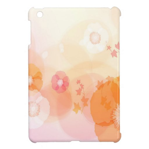 Abstract Flowers Warm Colors Leaf Splash Cover For The iPad Mini