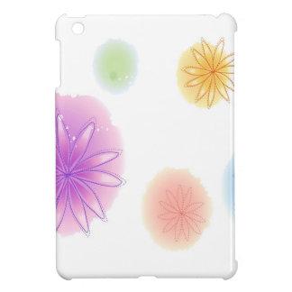 Abstract Flowers White Splash iPad Mini Cover