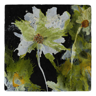 Abstract Flowers  (You can Customize) Trivet