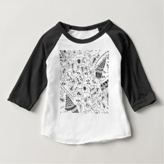 Abstract Flowery Indonesian Textile Baby T-Shirt