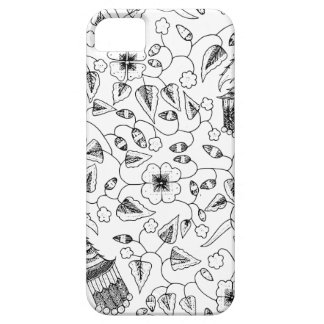Abstract Flowery Indonesian Textile iPhone 5 Cases
