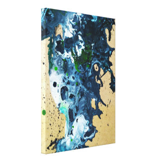 abstract fluid acrylic painting canvas print