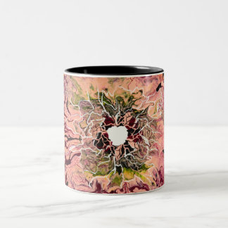Abstract fluid acrylics pattern Two-Tone coffee mug