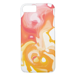 Abstract fluid orange yellow phone case