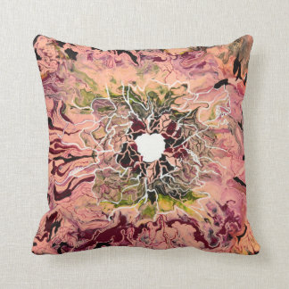 Abstract fluid pattern throw pillow