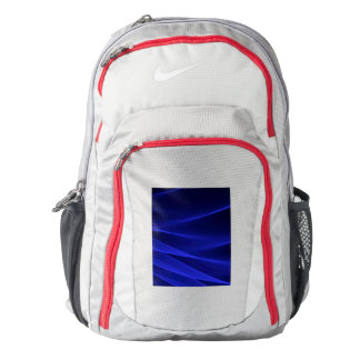 Abstract flux BLUE crimson Backpack