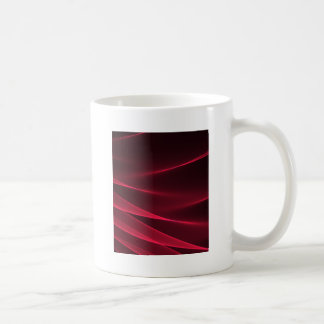 Abstract flux red crimson coffee mug