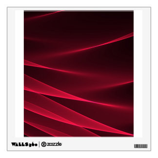 Abstract flux red crimson wall sticker