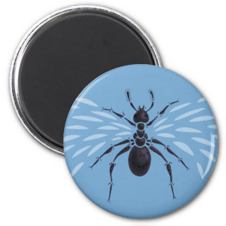 Abstract Flying Ant With Wings 2 Inch Round Magnet