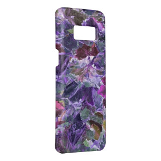 Abstract Foliage Leaves Pattern Purple Case-Mate Samsung Galaxy S8 Case