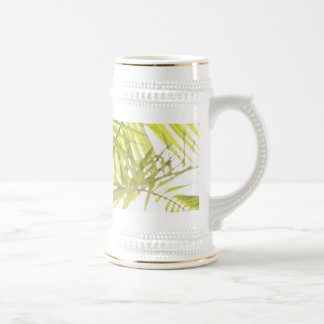 Abstract foliage beer steins