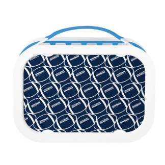 Abstract footballs lunch box