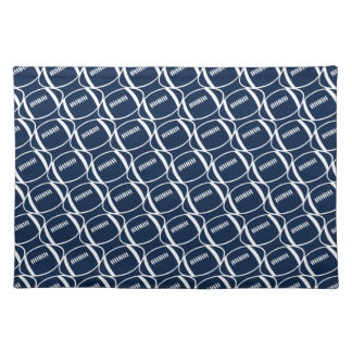 Abstract footballs placemat