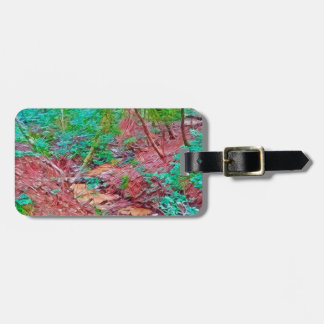 Abstract Forest Bag Tag